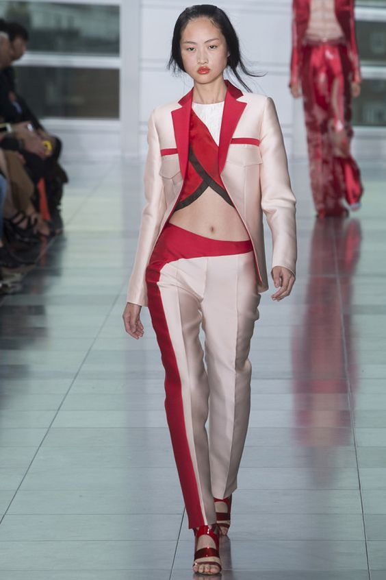 Antonio Berardi Spring 2015   LN #pastel x #red