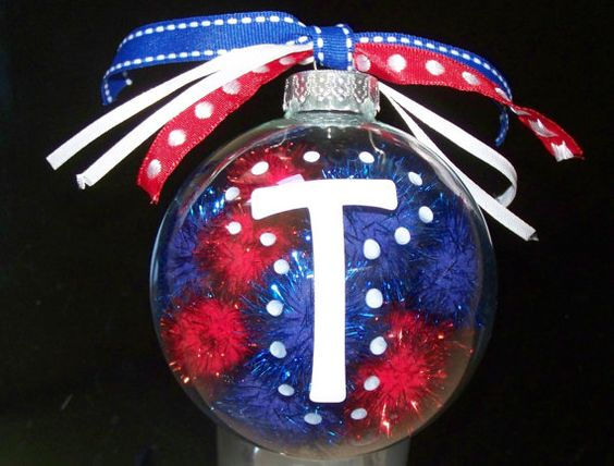 Texas Rangers Christmas Ornament...I will have a 2nd tree in my house...Rangers and Mavs!