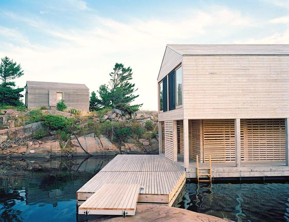 Floating house, Norway