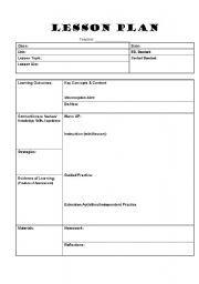 English worksheet: lesson plan template   Craftyness   Pinterest ...