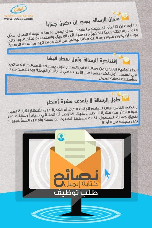 انفوجرافيك نصائح لكتابة ايميل طلب توظيف Life Skills Teach Arabic Positive Discipline