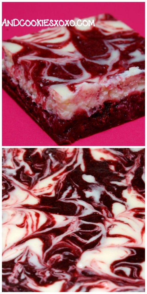 RED VELVET BROWNIES WITH CHEESECAKE SWIRL | Red Velvet Brownies, You ...