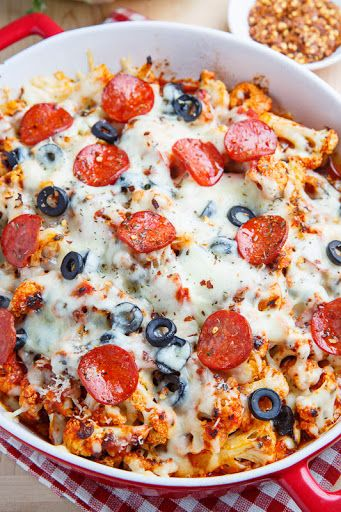 Cauliflower Pepperoni Pizza Casserole Recipe on Yummly. @yummly #recipe