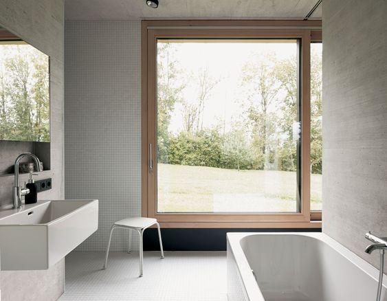 Bernardo Bader behauste Scheune Badezimmer Badezimmer - pflanzen für badezimmer