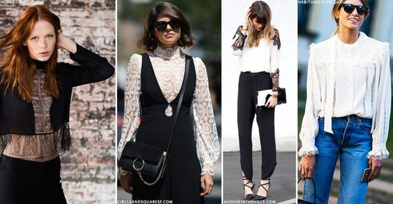 Wardrobe Update: Lace-Trimmed Blouses | sheerluxe.com