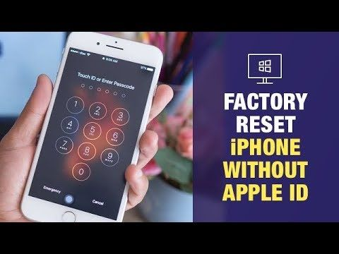 How To Factory Reset Iphone Without Apple Id In Windows Youtube Iphone Apple Reset