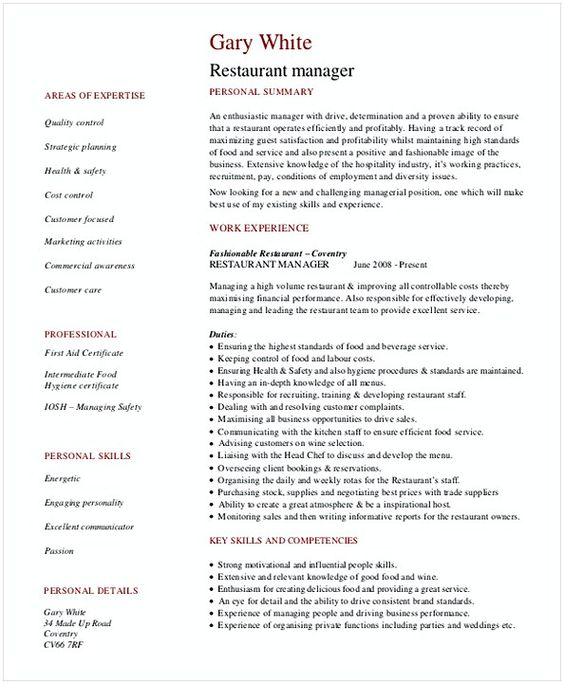 Restaurant General Manager Resume 1 Hotel And Restaurant Management Being In A Hospitality Both Chal Restaurant Management Manager Resume Restaurant Resume