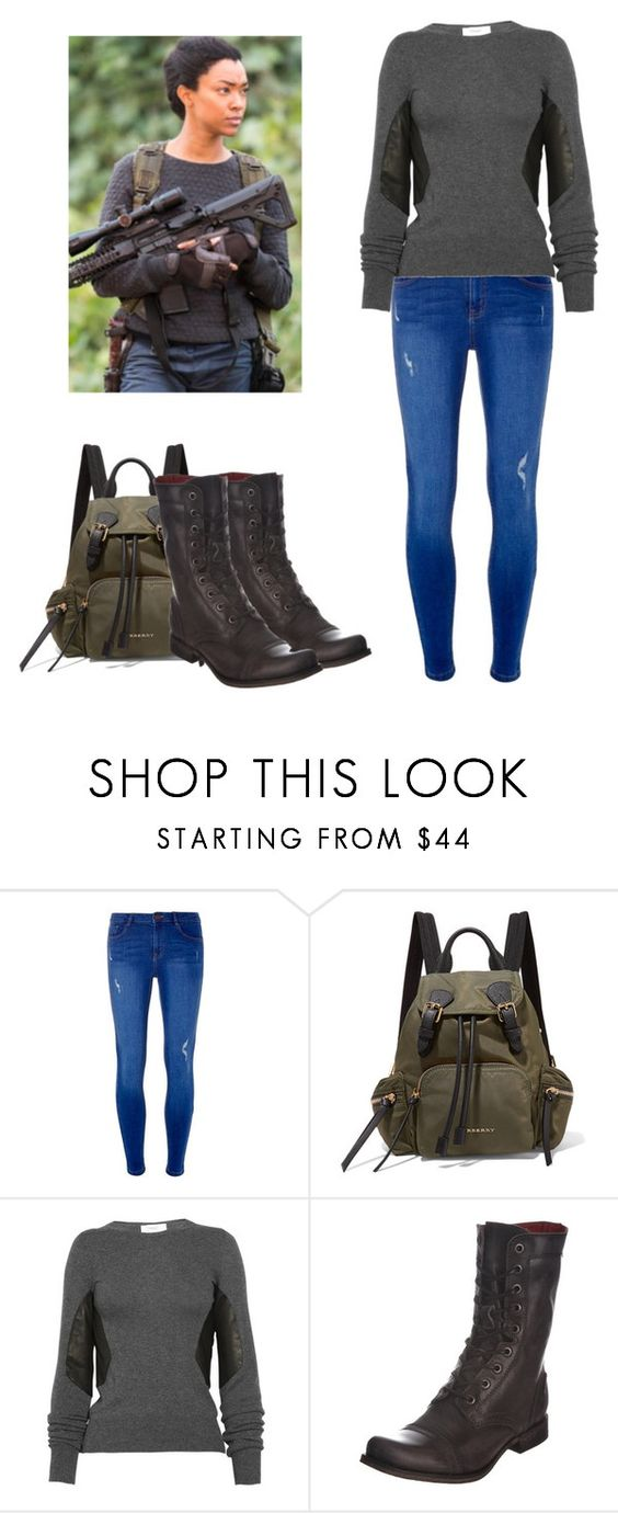 """""""Sasha Williams - twd / the walking dead"""" by shadyannon ❤ liked on Polyvore featuring Dorothy Perkins, Burberry, Pringle of Scotland and Diesel"""