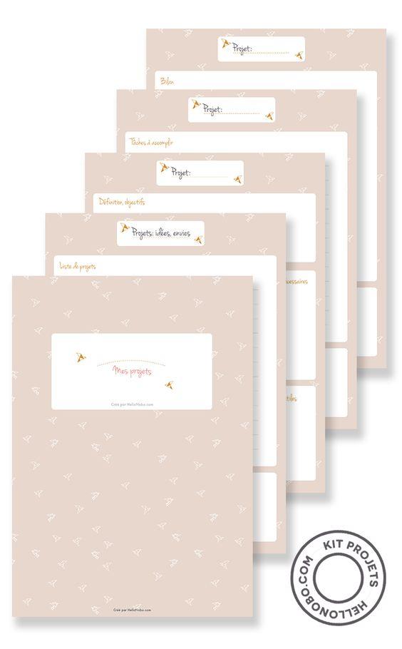 Kit projets à télécharger #printable #organisation