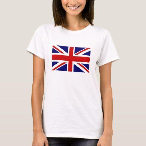 Personalised Ladies T-Shirt Proud To Be British Any Name Union Jack  Birthday La
