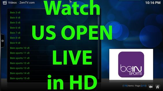 US OPEN 2016 Tennis LIVE stream in HD on KODI XBMC, how to watch, how to...