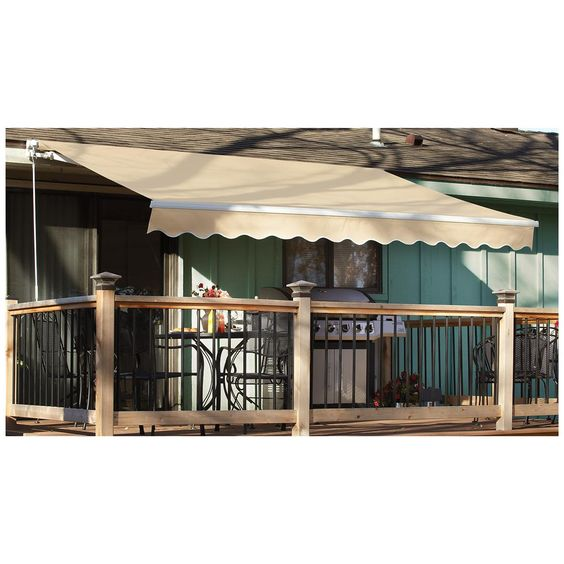Castlecreek 12 X 10 Retractable Awning Aluminum Side Arm 234396 Awnings Shades At Sportsman S Guide Pergola Pergola Shade Diy Sun Shade Canopy