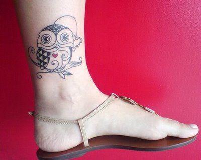 Cut Owl Tattoo: Tattoo Ideas, Love Heart Tattoo, Ankle Tattoos, Small Owl Tattoo, Tattoo Designs, Design Tattoo, Heart Tattoos, Owl Tattoos, Ink Tattoos