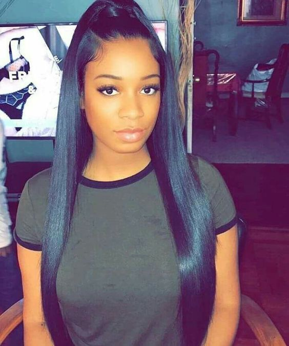8 Quick Straight Hair Weave Cute Back To School Hairstyles For Black Girls Vipbeaut Black Ponytail Hairstyles Weave Ponytail Hairstyles Ponytail Hairstyles