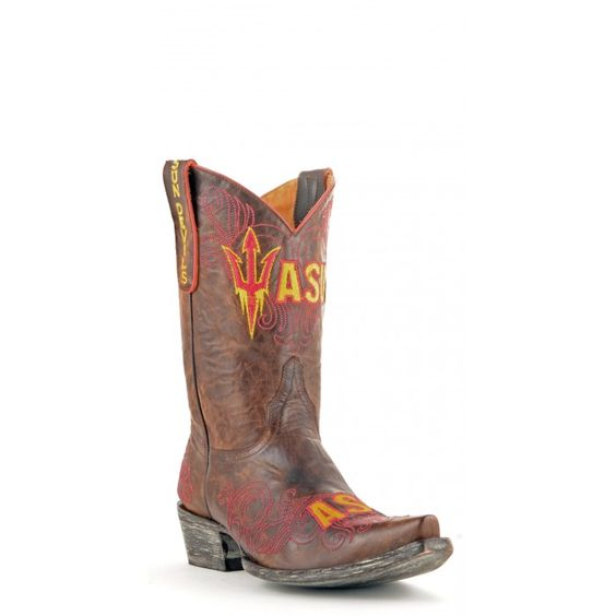 """Gameday Boots 10"""" Short Leather Arizona State Cowboy Boots"""