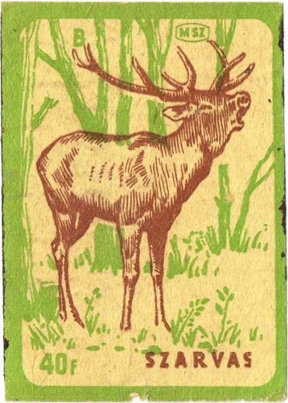 Vintage Hungarian matchbox covers owner by Kristian Bodnar's grandmother.