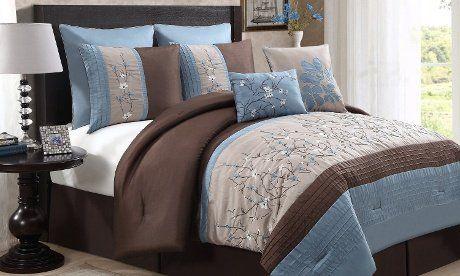 Avondale Manor Sakura 8 Piece Embroidery Comforter Set, Queen, Blue Avondale Manor http://www.amazon.com/dp/B00WXFO1DW/ref=cm_sw_r_pi_dp_a5B2wb1SYZN1R