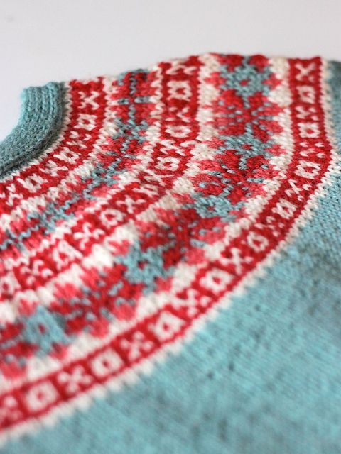 Red & Blue Fair Isle