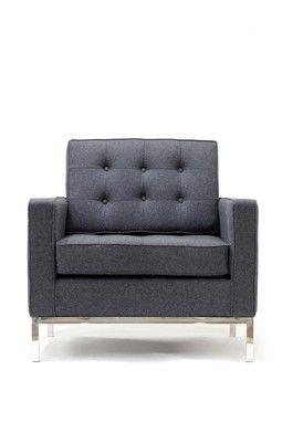 Classy Arm Chair - Dark Gray Wool