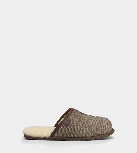 ugg mens scuff herringbone slippers