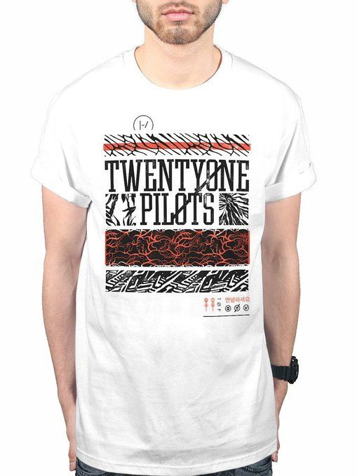 Official Twenty One Pilots Athletic Stack T-Shirt Music Tyler Joseph Josh Dun Band