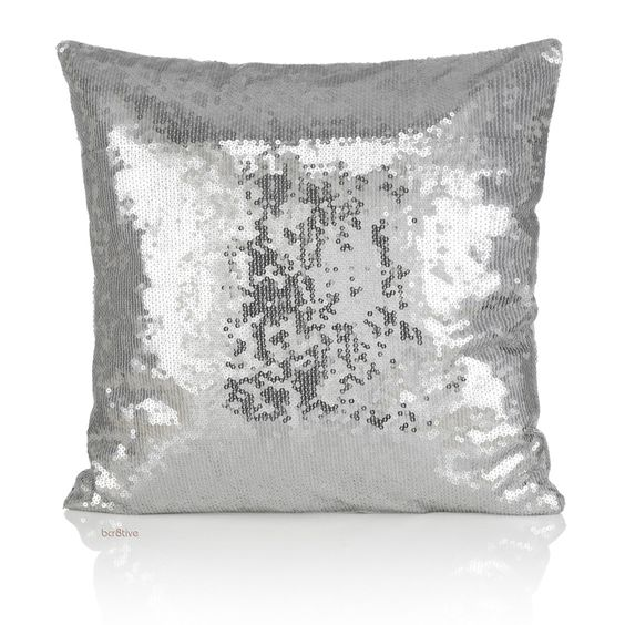 All Over Silver Sequin Pillow
