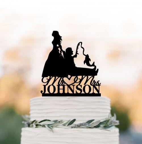 Bride Pulling Groom Bride Dragging Groom Wedding Cake Topper Fishing In 2020 Wedding Cake Toppers Baseball Wedding Cakes Hunter Wedding Cake