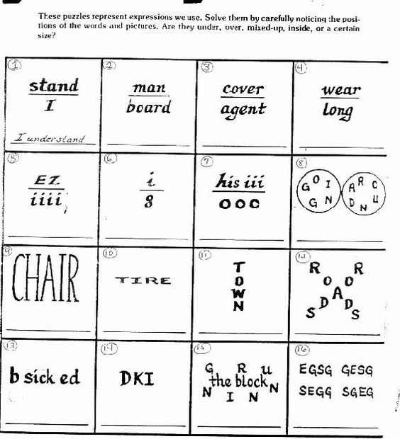 Puzzles Brain Teasers with Answers … | Pinteres…