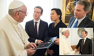 Facebook founder Mark Zuckerberg and his wife Priscilla Chan met the Pope on Monday while the two were in Italy following the devastating earthquake last week, which left 247 dead.