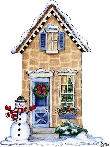 free christmas village clipart - photo #19