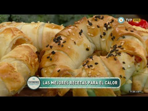 Rosquitas de masa rellenas con panceta y brócoli - YouTube