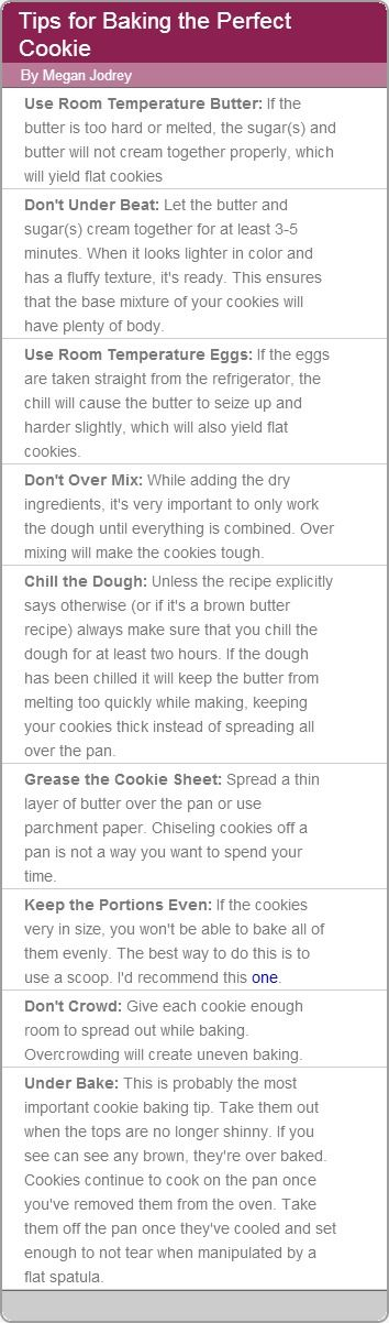Tips for Baking the Perfect Cookie