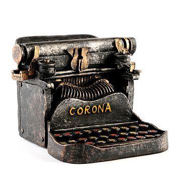 Typewriter coin bank
