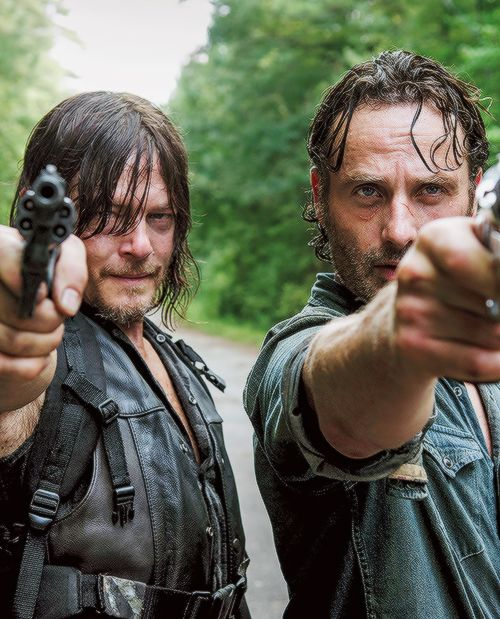 New promotional still of Daryl Dixon and Rick Grimes in The Walking Dead Season 6B: