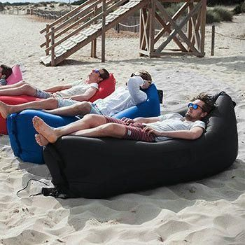 Inflatable Outdoor Air Lounger - Perfect For Camping, Beach Or Picnics!