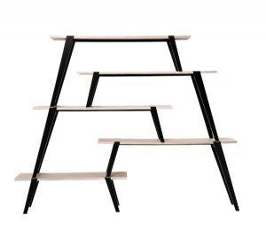 Oswald Ash Veneer 5 Shelf Unit