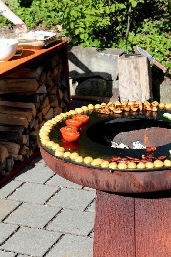 Ringryll ring Barbecue Grill Aufsatz f?ºr Feuerschalen