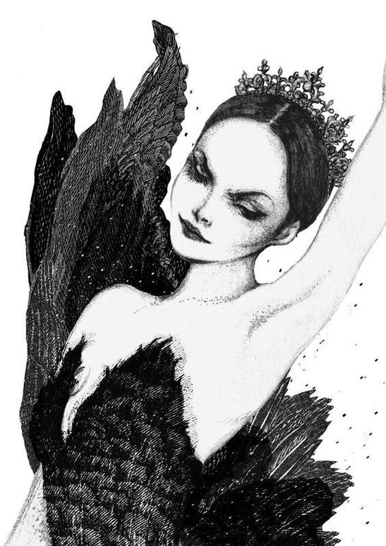 Odile Swan Lake, mini ballet art print