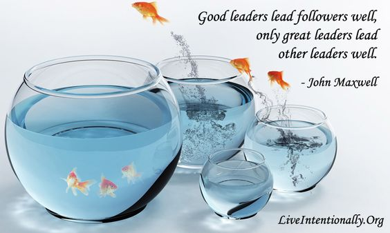 Inspirational Quote: Good leaders lead followers well, only great leaders lead other leaders well. -John Maxwell