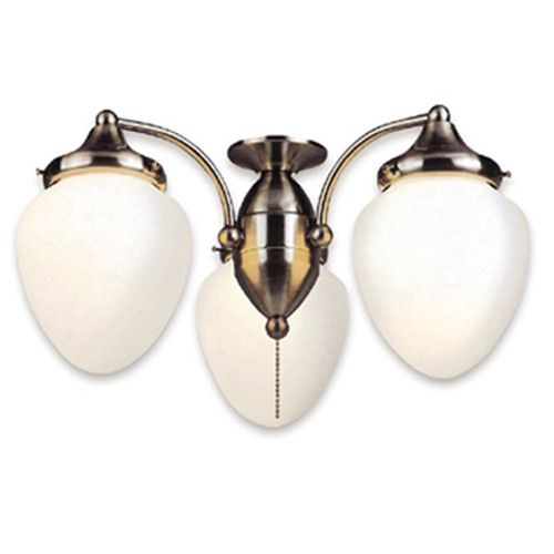 harbor breeze 3 light polished pewter ceiling fan light kit with acorn