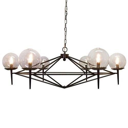 Sharp and masculine black chandelier.   #fifthwallfriday #ceilume #ceiling #interior #design #diy #study