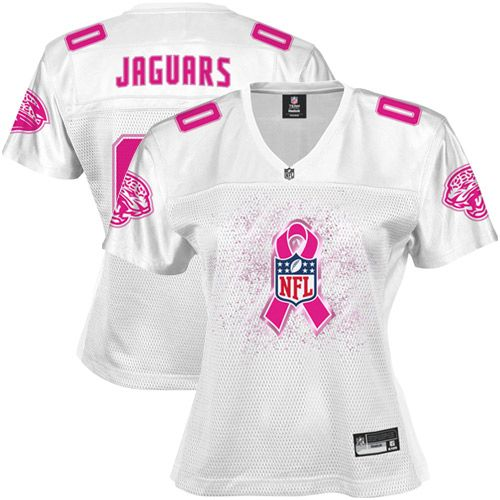 Jacksonville Jaguars Women's Breast Cancer Awareness Replica Jersey - White