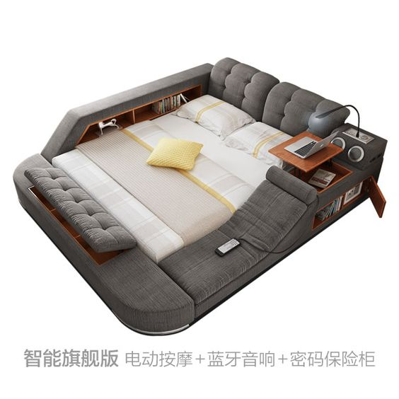 USD 59342 Massage bed tatami bed fabric bed double bed storage - küche selbst bauen