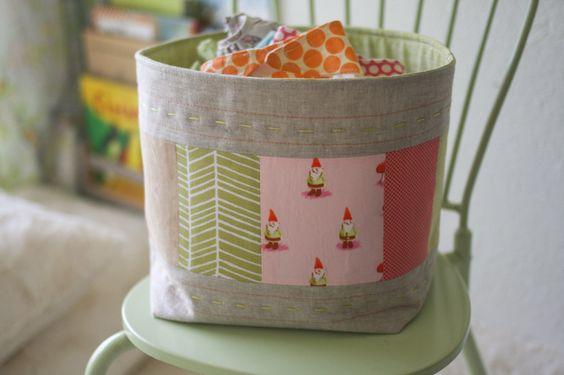 scrappy fabric basket-5481