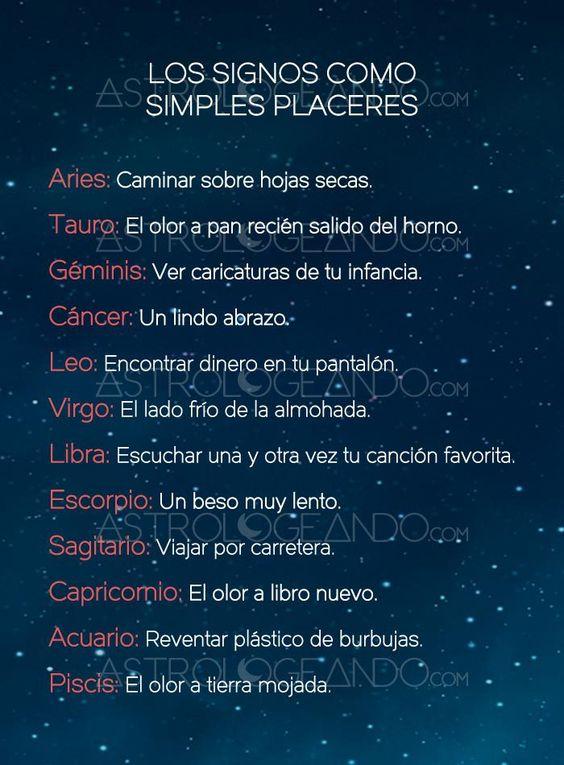 LOS SIGNOS COMO SIMPLES PLACERES #Zodiaco #Astrología #Astrologeando