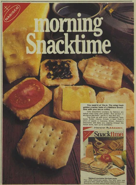 Nabisco Morning Snacktime Biscuits Crackers Magazine Advertisement Ad March 1970 Vintage Retro