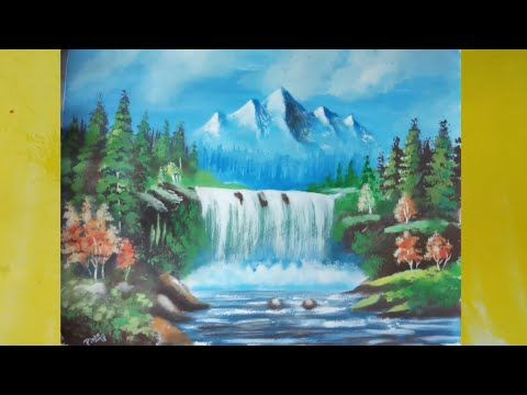How To Paint A Simple Landscape With Poster Colour Youtube In 2020 Painting Poster Colour Colorful Landscape