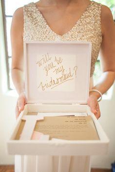Will you be my bridesmaid ideas   Secret Wedding Blog