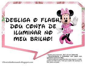 Oliveira Fashionando Plaquinhas Minnie Rosa Para Imprimir Festa