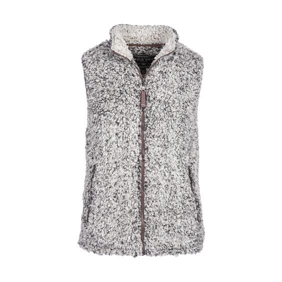 Frosty Tipped Pile Vest in Charcoal